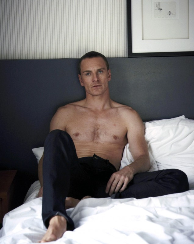 Michael Fassbender a letto