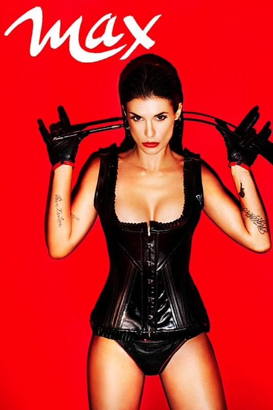 Elisabetta Canalis in versione fetish su MAX (settembre 2012)