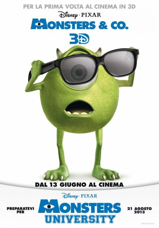 Monsters & Co. in 3D: il poster italiano del film