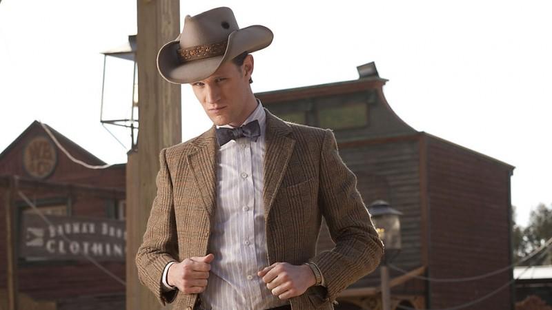 Matt Smith in un'immagine dell'episodio A Town Called Mercy della settima stagione di Doctor Who