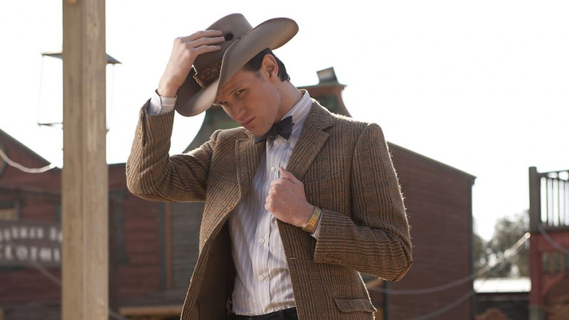 Matt Smith nell'episodio A Town Called Mercy della settima stagione di Doctor Who