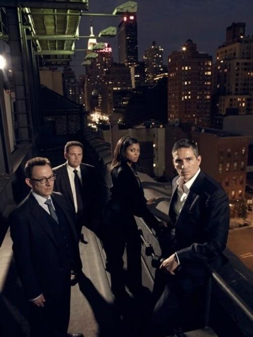 Person of Interest: Michael Emerson, Kevin Chapman, Taraji P. Henson e Jim Caviezel in una foto promozionale della stagione 2