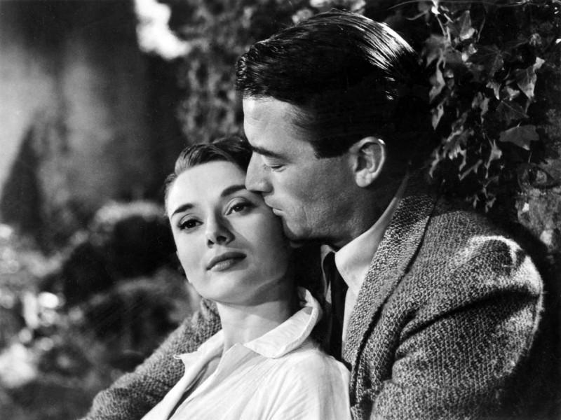 Audrey Hepburn e Gregory Peck in Vacanze Romane
