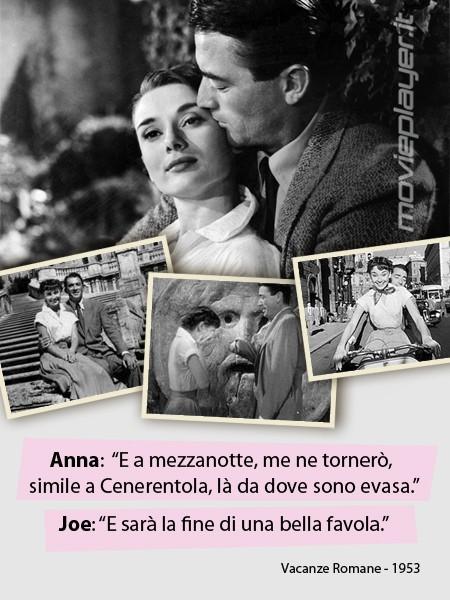 Audrey Hepburn e Gregory Peck in Vacanze Romane: la nostra eCard: condividi sui social le immagini e frasi dei tuoi film e attori preferiti!