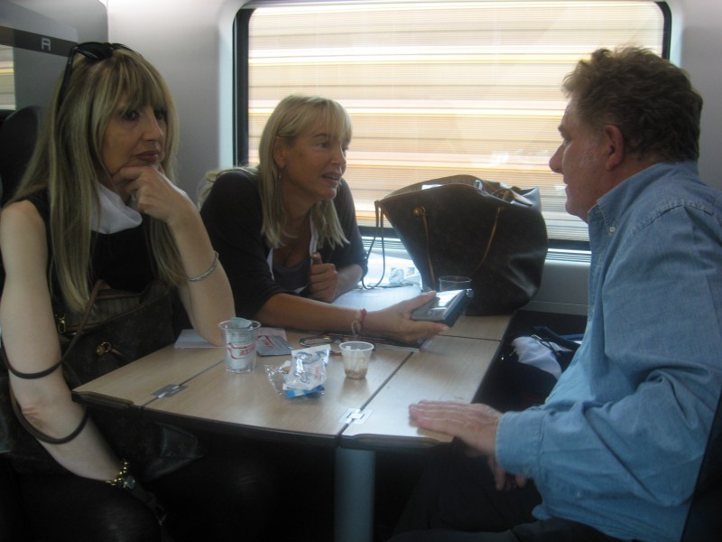 Cesaroni 5: Antonello Fassari sul treno del Cesaroni Day del 12 Settembre 2012