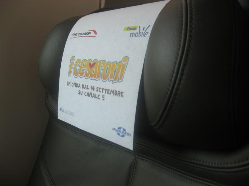 Cesaroni Day: il sedile del treno decorato per ospitare l'evento