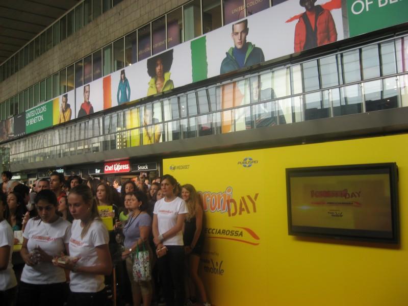 Uno scatto dal Cesaroni Day del 12 Settembre 2012, per promuovere il lancio della stagione 5