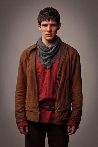 Colin Morgan in una foto promozionale della quinta stagione della serie televisiva Merlin
