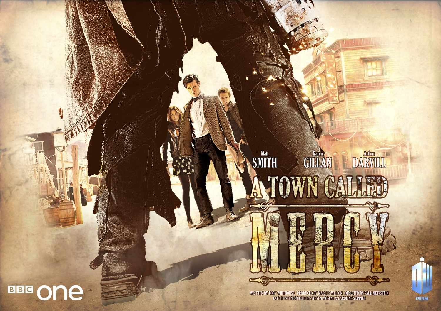 Doctor Who: un wallpaper dell'episodio A Town Called Mercy