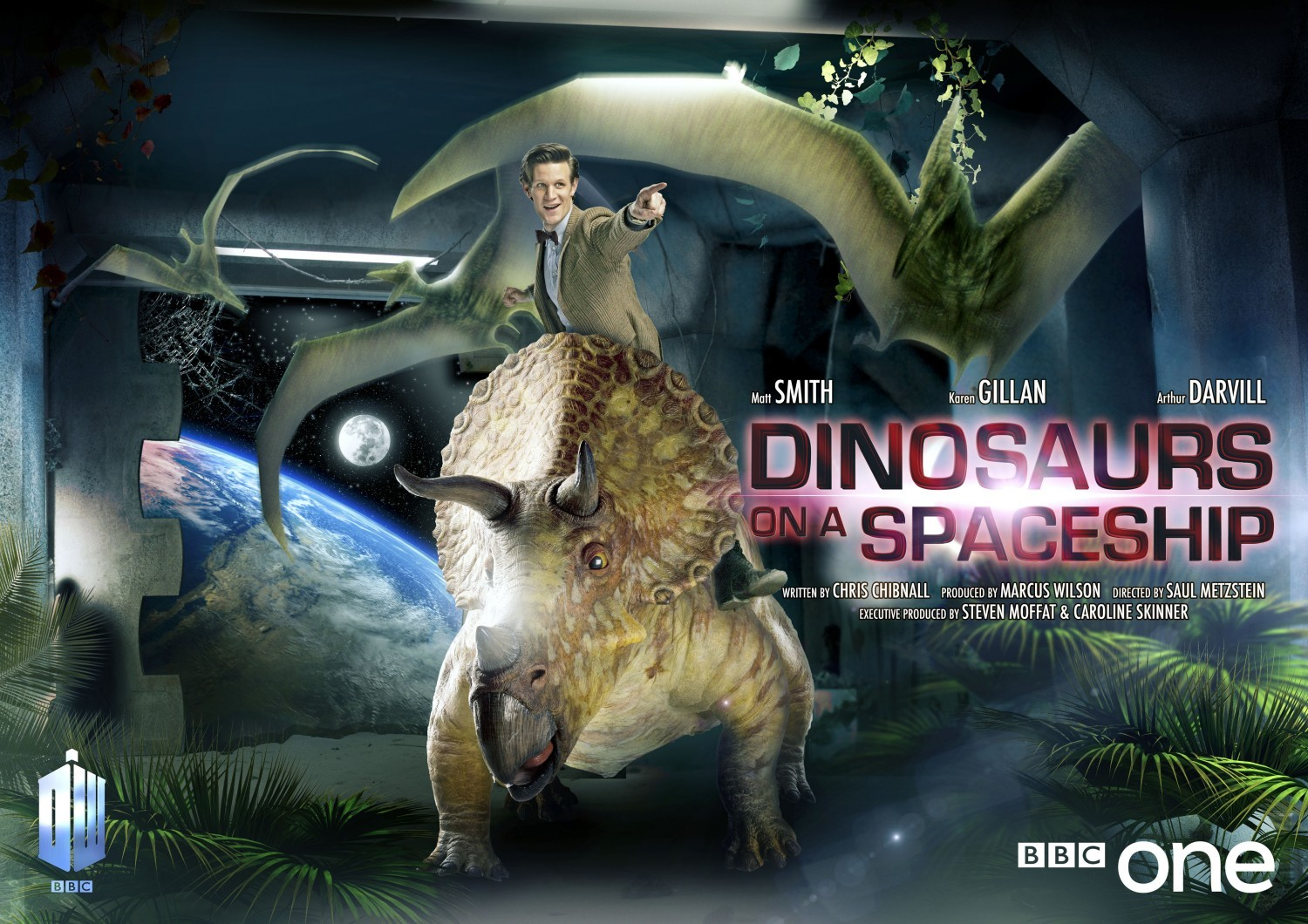 Doctor Who: un wallpaper dell'episodio Dinosaurs on a Spaceship