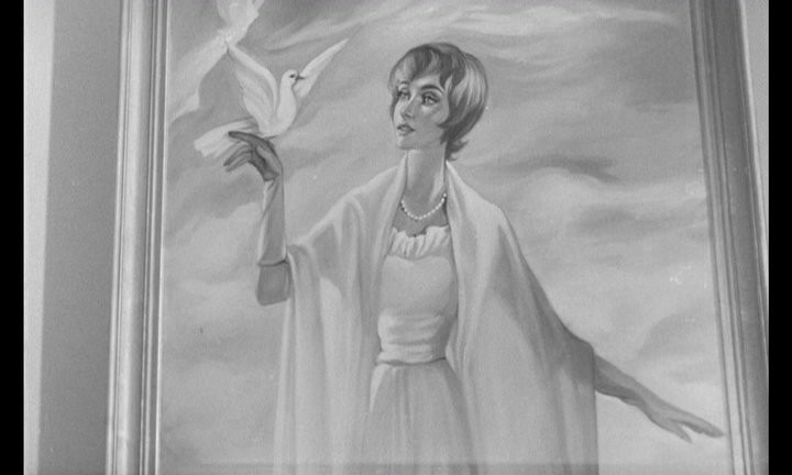 Il ritratto di Christiane in una scena del film Occhi senza volto (1960)