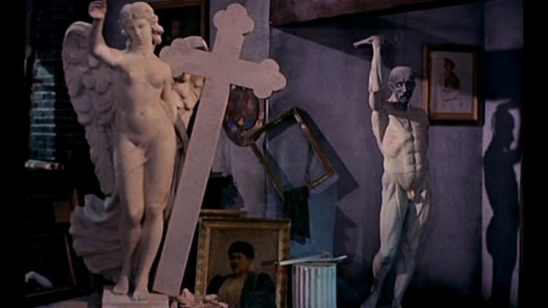 Una scena del film Il mulino delle donne di pietra (1960)