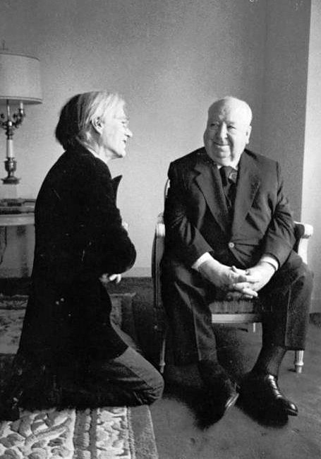 Alfred Hitchcock con Andy Warhol