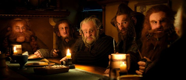 I nani Stephen Hunter, Adam Brown, Mark Hadlow, Jed Brophy e Peter Hambleton in Lo Hobbit - Un viaggio inaspettato
