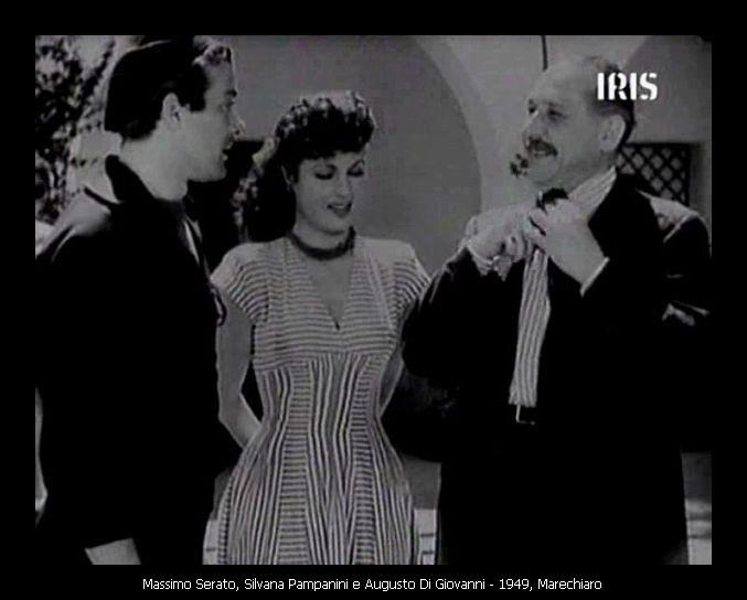 Massimo Serato, Silvana Pampanini e Augusto Di Giovanni in Marechiaro del 1949