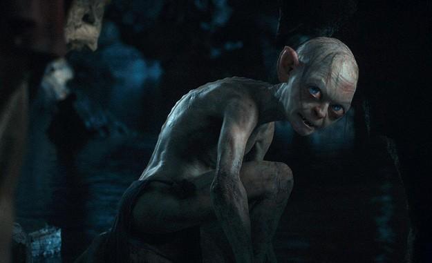 Un'inquietante immagine di Andy Serkis nei panni di Gollum in Lo Hobbit - Un viaggio inaspettato