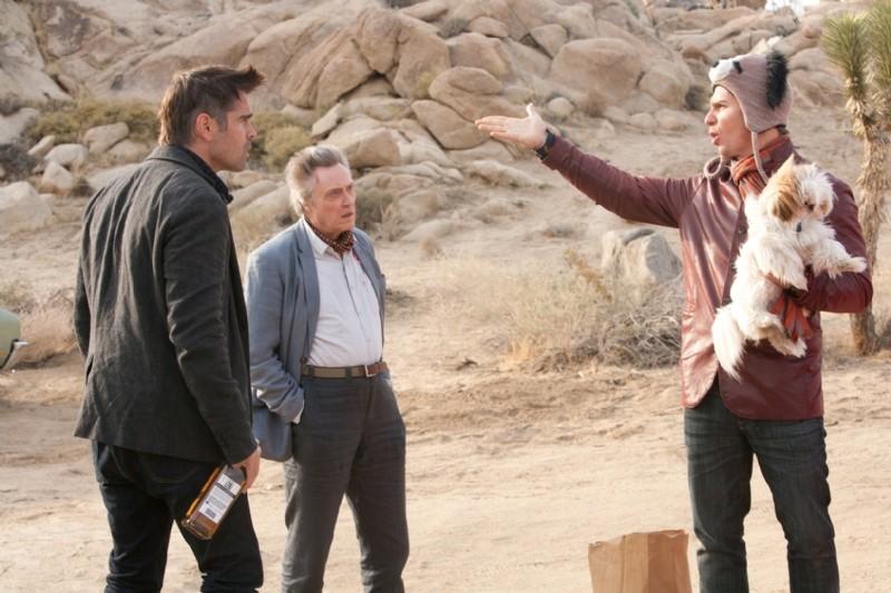 Colin Farrell, Christopher Walken, Sam Rockwell e lo shih-tzu Bonny in Seven Psychopaths