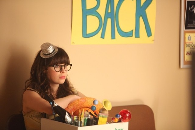 New Girl: Zooey Deschanel in una scena dell'episodio Re-Launch