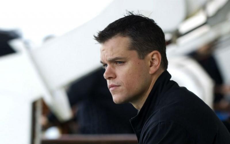 Un primo piano di Matt Damon in Promised Land