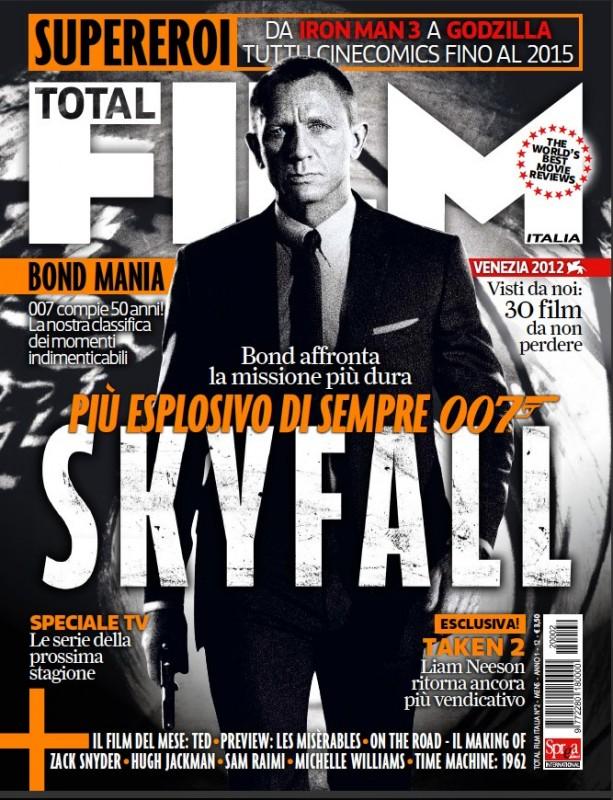 007 - Skyfall, Daniel Craig nella copertina di Total Film Italia in bianco e nero dedicata al film