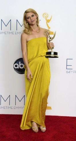 Claire Danes premiata per Homeland agli Emmy 2012