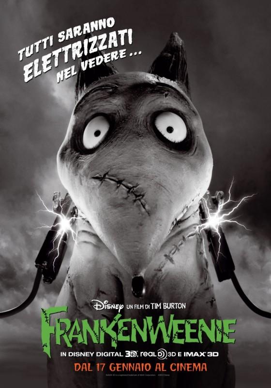 Frankenweenie: nuovo elettrizzante poster per Sparky