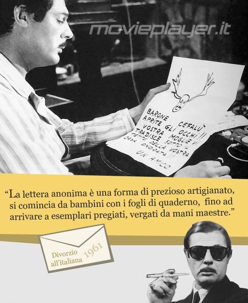 Marcello Mastroianni in Divorzio all'italiana - la nostra eCard: condividi sui social le immagini e frasi dei tuoi film e attori preferiti!