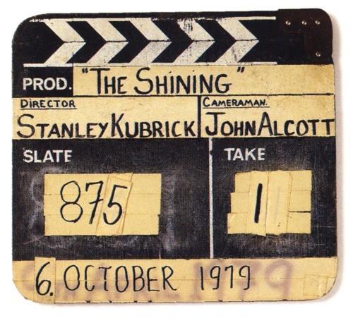 Shining: il ciak del film di Kubrick