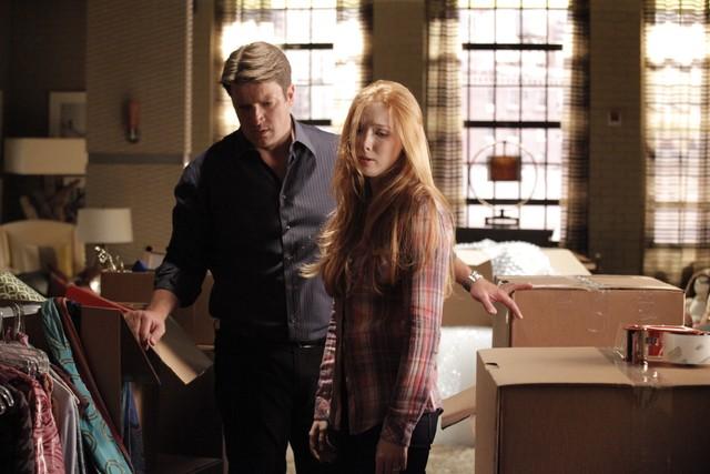 Castle: Nathan Fillion e Molly Quinn nell'episodio Secret's Safe With Me