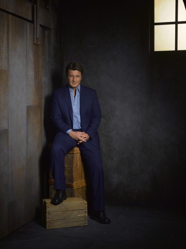 Castle: Nathan Fillion in una foto promozionale della stagione 5