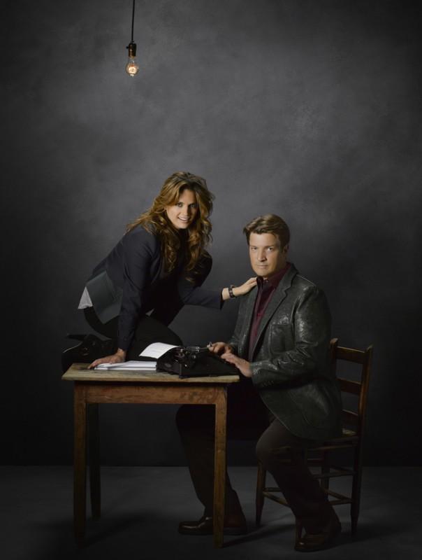 Castle: Stana Katic e Nathan Fillion in una foto promozionale della stagione 5