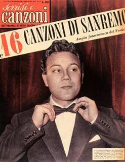Festival di Sanremo 1957 - Claudio Villa sulla copertina di Tv Sorrisi e Canzoni
