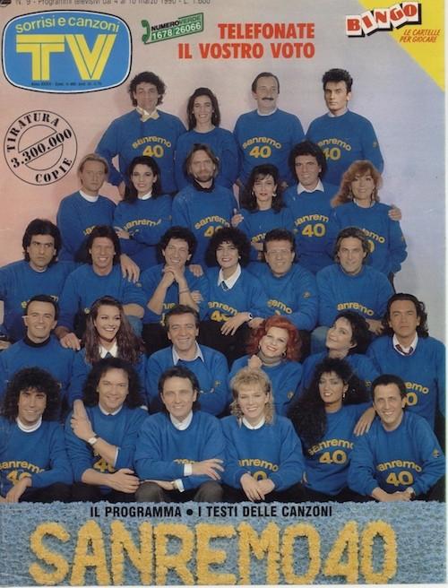 Festival di Sanremo 1990 in cover su TV Sorrisi e Canzoni