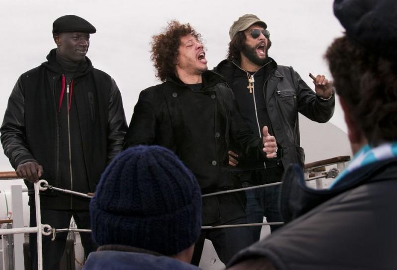 Les Seigneurs - Omar Sy, Joey Starr, Ramzy in una scena