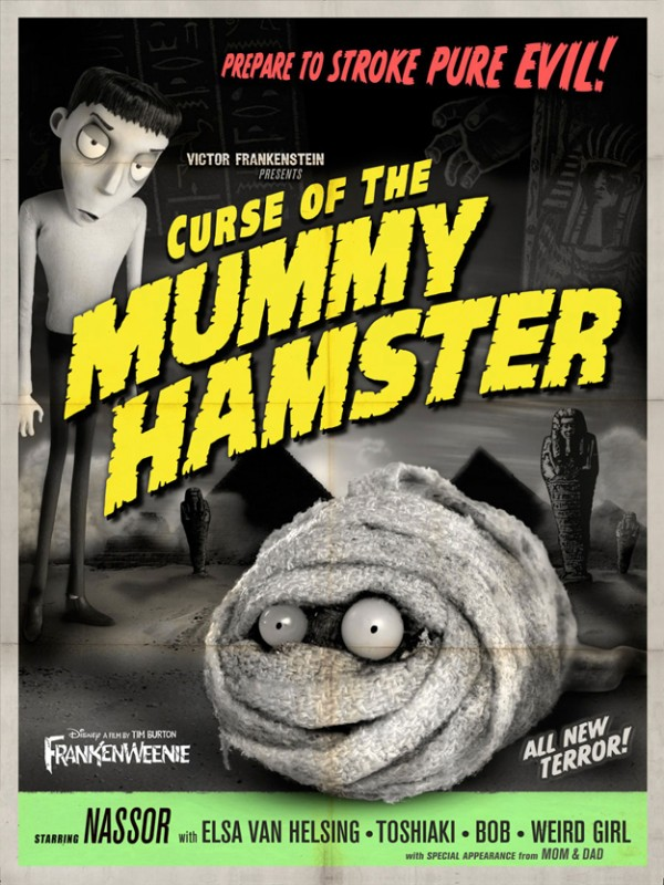 Frankenweenie memorabilia: Curse of the Mummy Hamster
