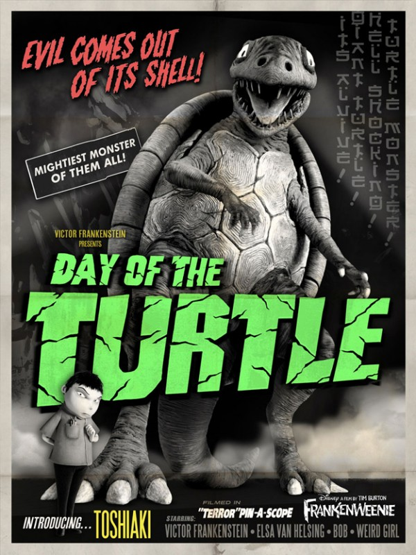 Frankenweenie memorabilia: Day of the Turtle