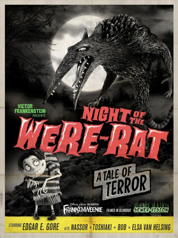 Frankenweenie memorabilia: Night of the Were-Rat