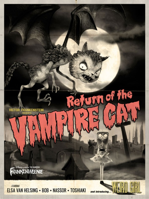 Frankenweenie memorabilia: Return of the Vampire Cat
