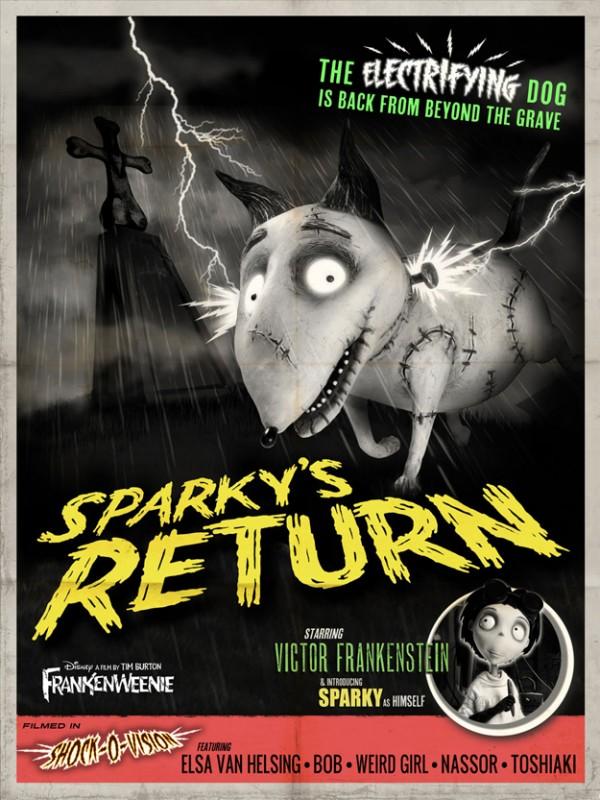 Frankenweenie memorabilia: Sparky's Return