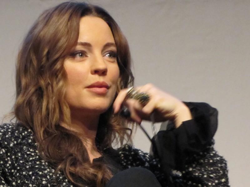 RomaFictionFest 2012:  Melissa George durante la presentazione di Hunted alla stampa