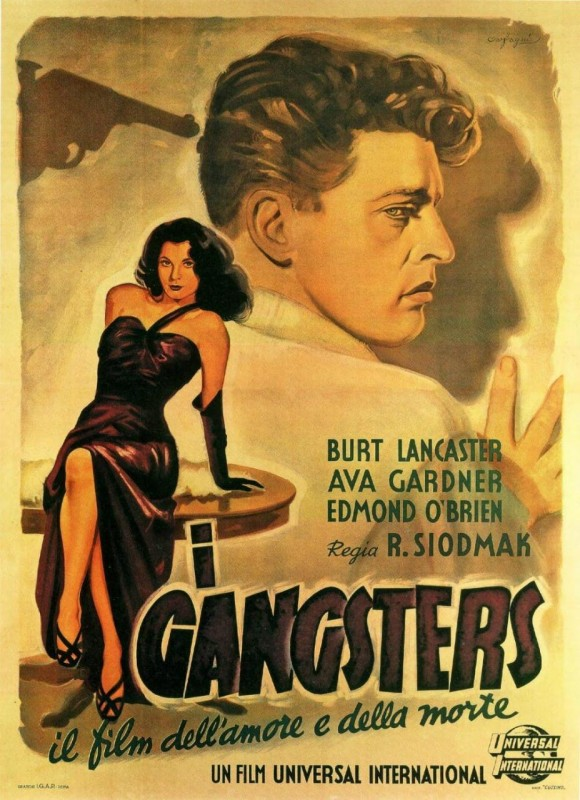 Locandina italiana del film I Gangsters (1946)