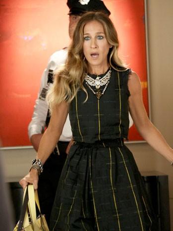 Jessica Parker in una scena dell'episodio Makeover della terza stagione di Glee
