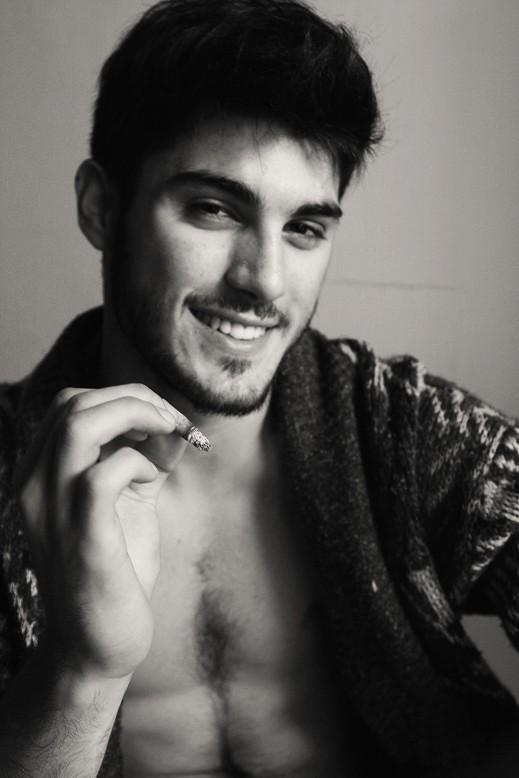 Vincent Mazzarella in uno scatto in bianco e nero
