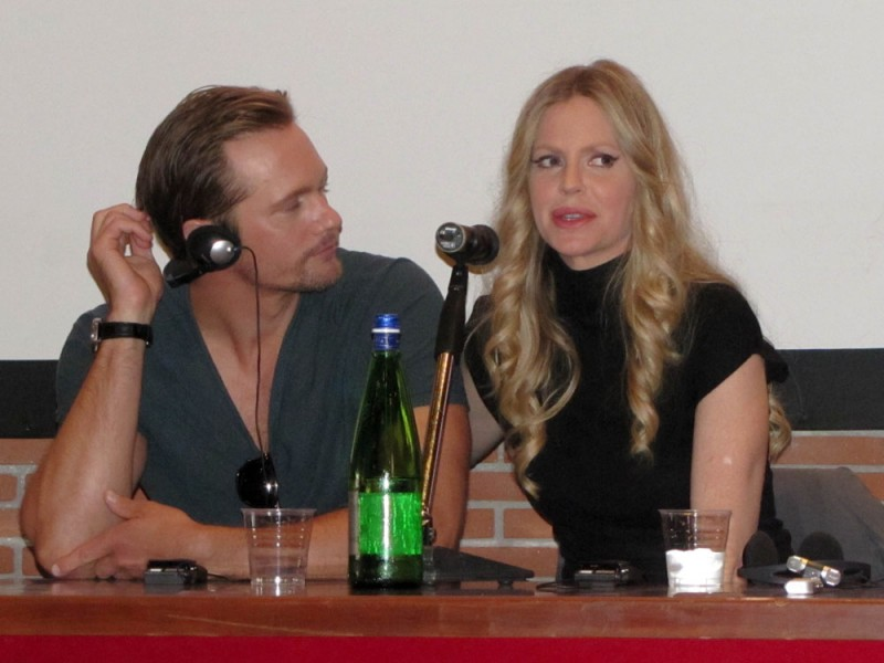 True Blood: Alexander Skarsgard con Kristin Bauer al RomaFictionFest 2012 per presentare la stagione 5 della serie