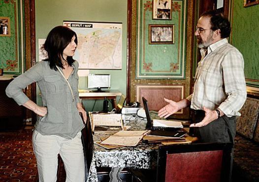 Claire Danes con Mandy Patinkin in un momento della seconda stagione di Homeland