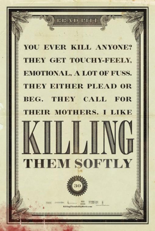 Killing Them Softly: poster USA 1
