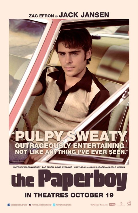 The Paperboy: Character Poster per Zac Efron