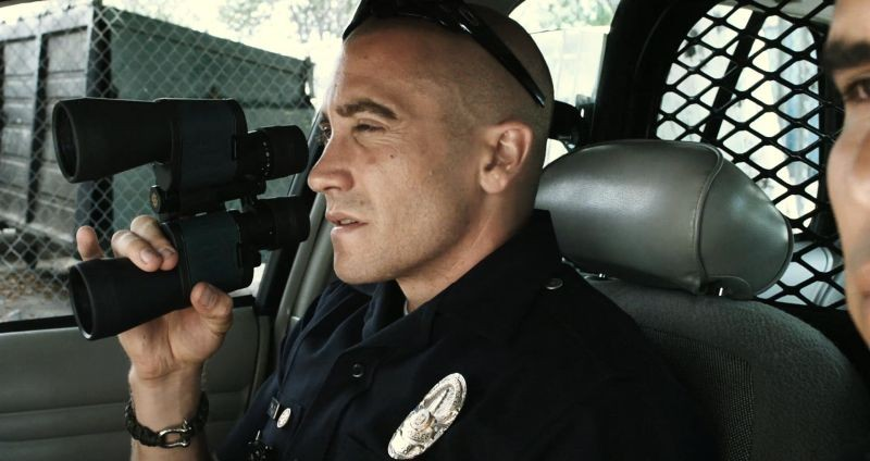 Jake Gyllenhaal in un'immagine tratta dall'action End of Watch - Tolleranza zero
