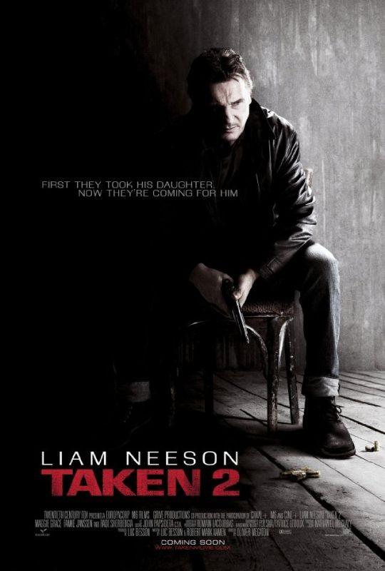 Taken: la vendetta, la locandina internazionale del film