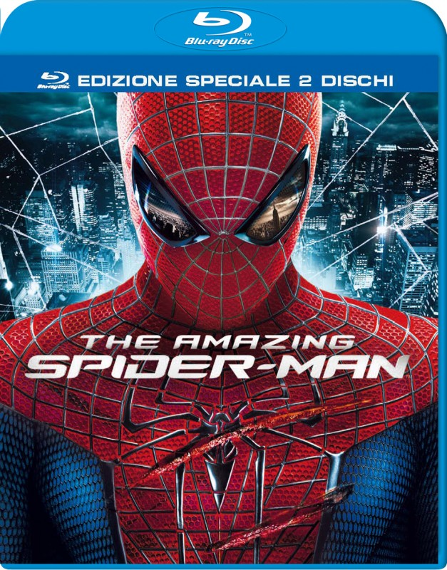 La copertina di The Amazing Spider-Man (blu-ray)